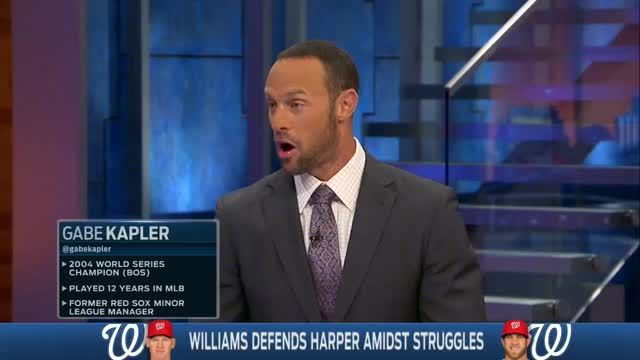 News video: Matt Williams Defends Bryce Harper Amidst Struggles